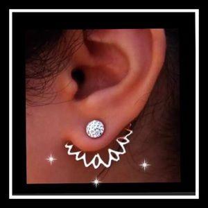 Super cute boho lotus earrings